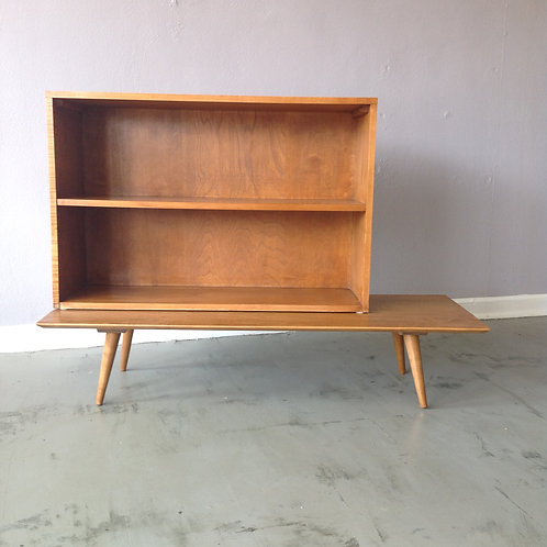 Paul McCobb Bookcase / Hutch 0n Low Table