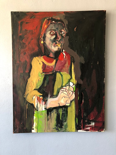 Outsider Art Woman Painting