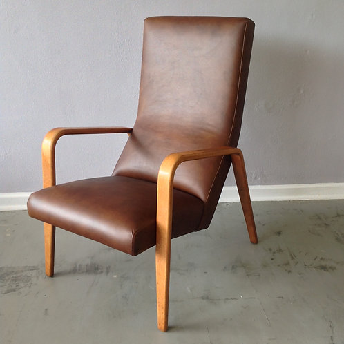 Thonet Style Bentwood High Back Lounge Chair
