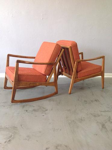 Danish Modern Matching Chair and Rocker