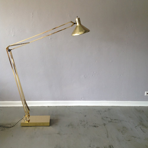 "Alsy Brass ""The Grasshopper"" Floor Lamp"