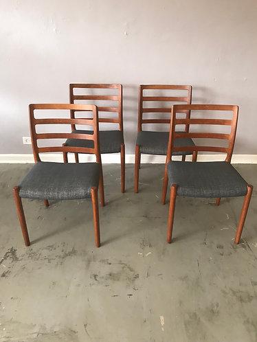J.L. Moller Dining Chair Model #85 Set