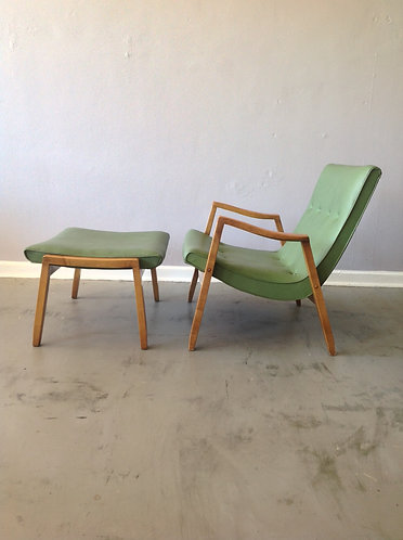 Milo Baughman Scoop Chair and Ottoman