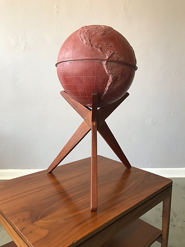 Pearsall Style Walnut Globe Stand and Globe