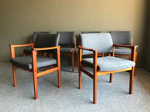 Set of 6 Svegards Markaryd Swedish Dining Chairs