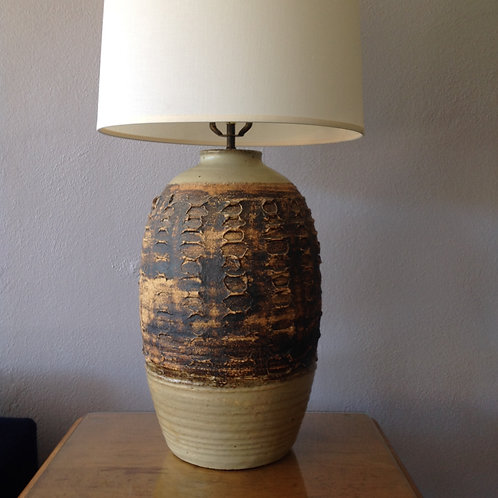 Studio Pottery Lamp California Craftsman