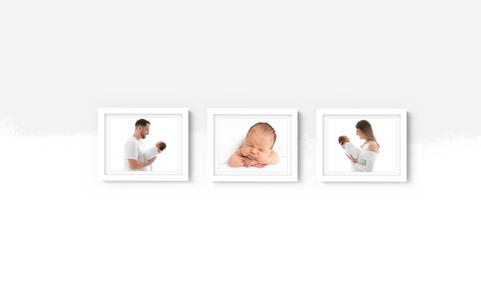 Three 10x8 framed Prints