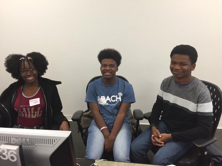 Students at Essay Workshop