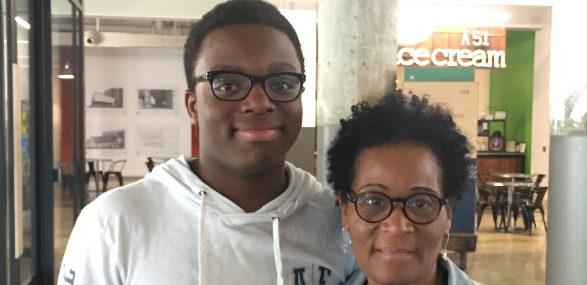 REACH Memphis student and parent
