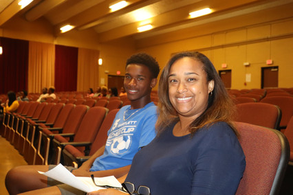 Student and Parent at Interest Meeting