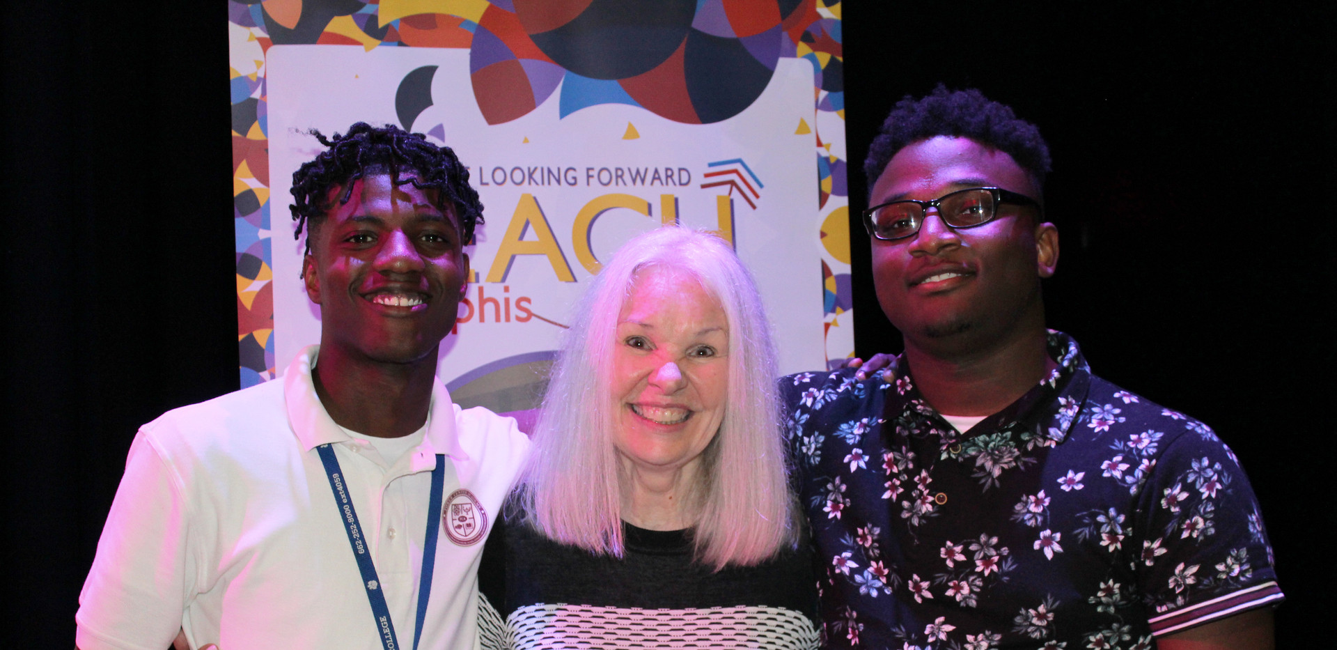 REACH Memphis students with Executive Director