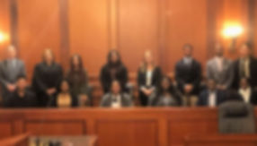 REACH Memphis Law Scholars with Shelby County Court Room with Judges and Lawyers
