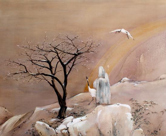 A woman who became a plum blossom tree