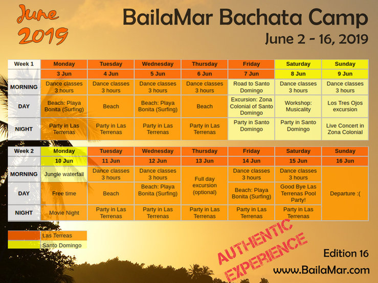 2019 June bachata dance program