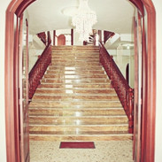The stairs where we always meet to go to the parties