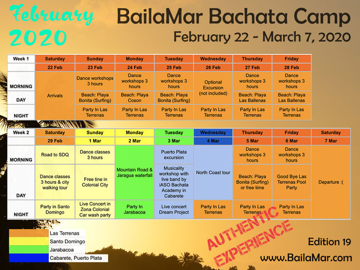 2020 February bachata program