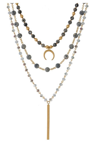 Gold 3 layered necklace