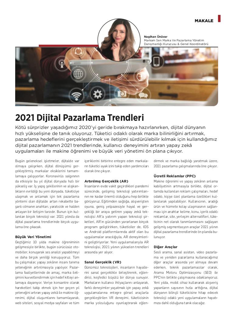 2021 Dijital Pazarlama Trendleri - Kobi Aktüel - Aralık 2020