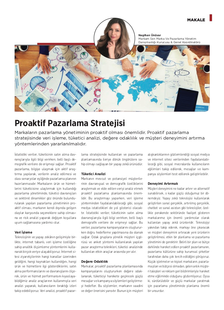 Proaktif Pazarlama Stratejisi - Kobi Aktüel - Eylül 2020