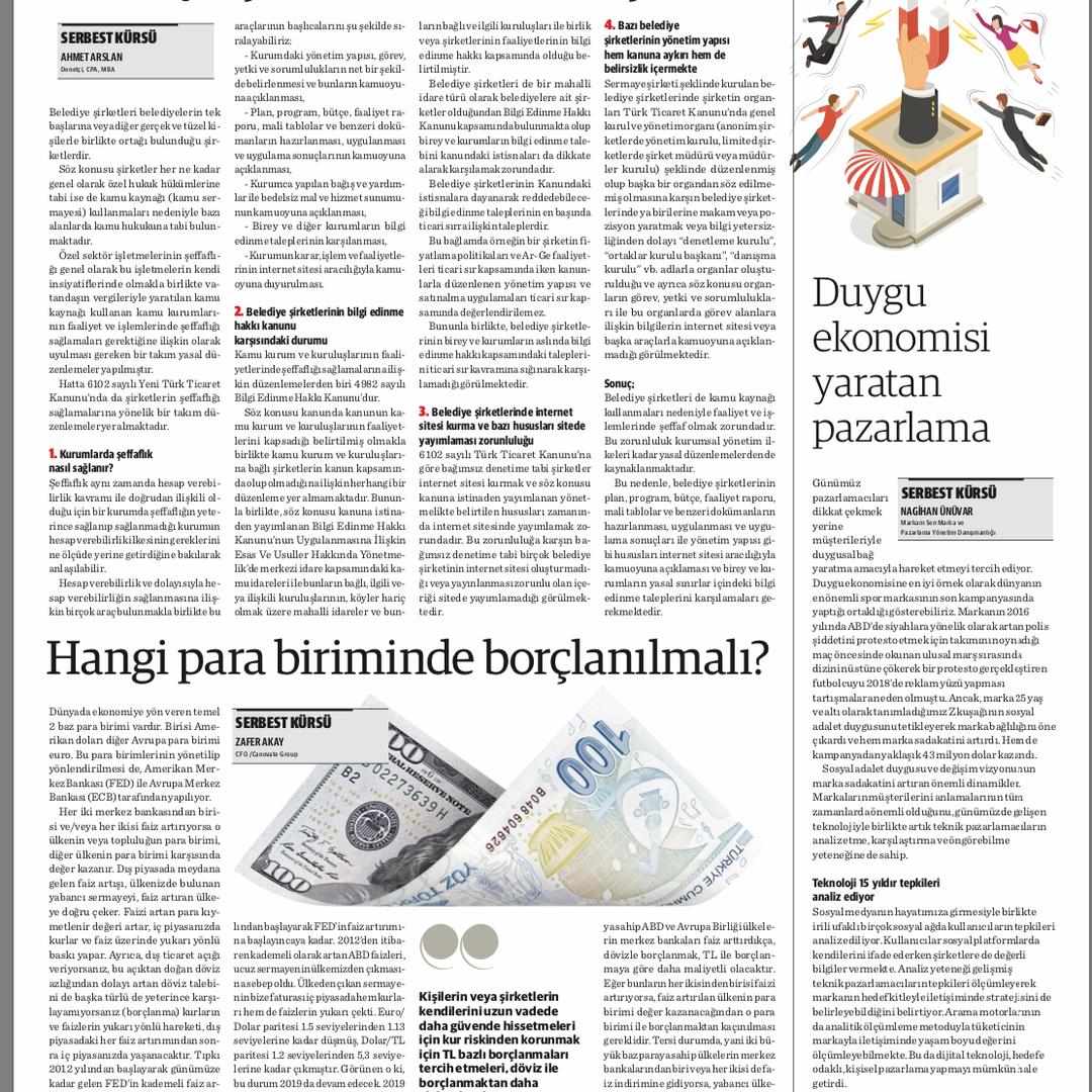 """Dünya Gazetesi'nde yayınlanan yazımız """"Duygu Ekonomisi Yaratan Pazarlama"""""""