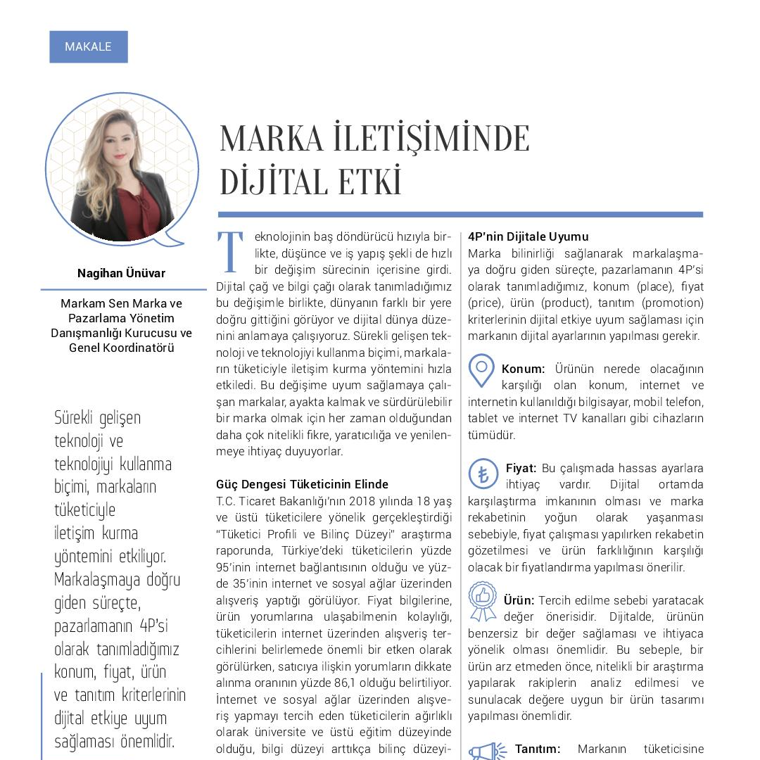 Marka İletişiminde Dijital Etki - Kobi Aktüel - Mart 2020