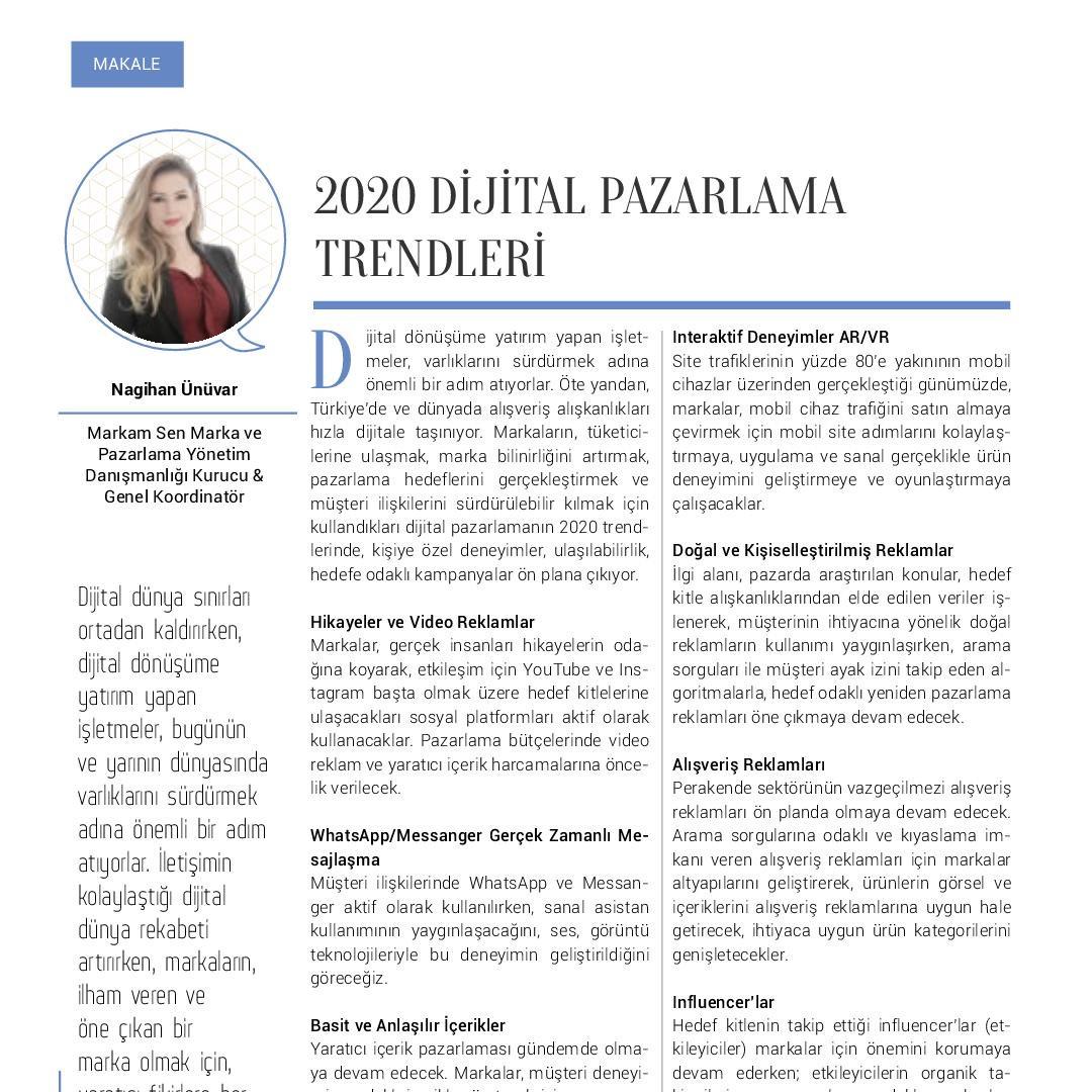 2020 Dijital Pazarlama Trendleri - Kobi Aktüel - Ocak 2020