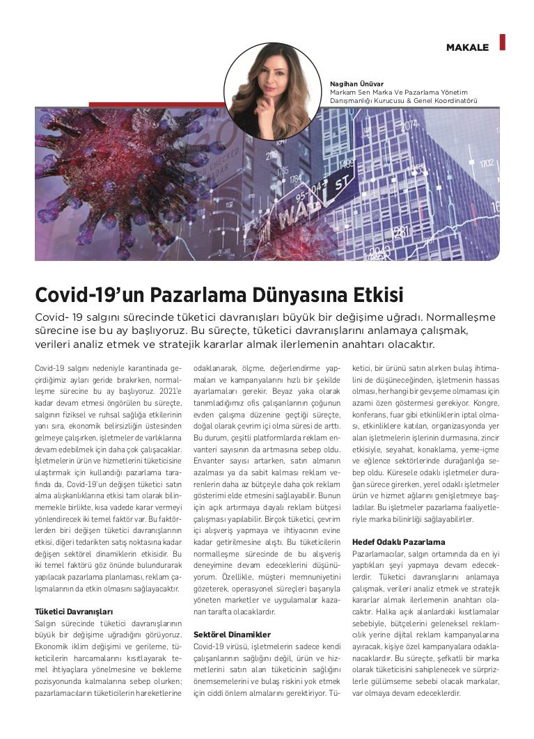 Covid-19'un Pazarlama Dünyasına Etkisi - Kobi Aktüel - Haziran 2020