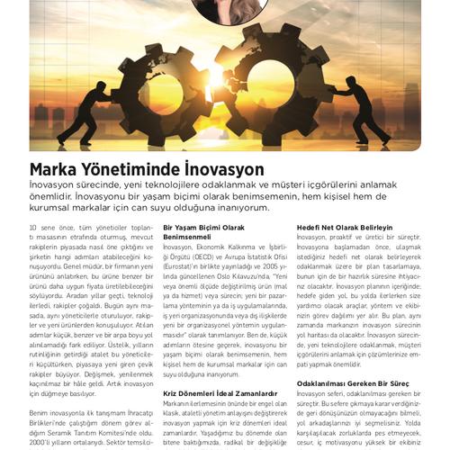 Marka Yönetiminde İnovasyon - Kobi Aktüel - Temmuz 2020