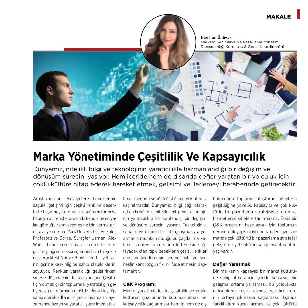 Marka Yönetiminde Çeşitlilik ve Kapsayıcılık - Kobi Aktüel -  Ağustos 2020