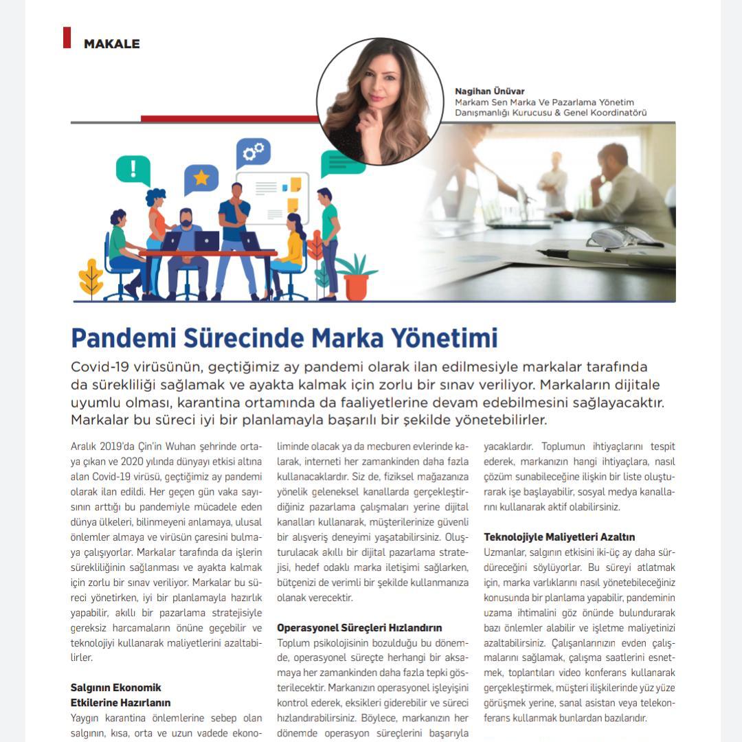 Pandemi Sürecinde Marka Yönetimi - Kobi Aktüel - Nisan 2020