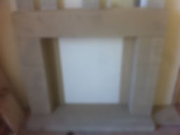Yorkstone fireplace
