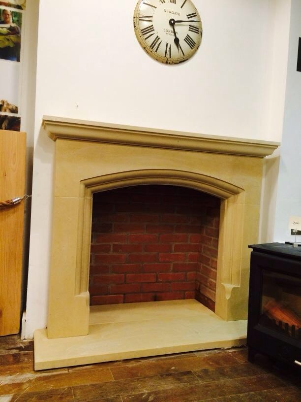 Yorkshire sandstone fireplace