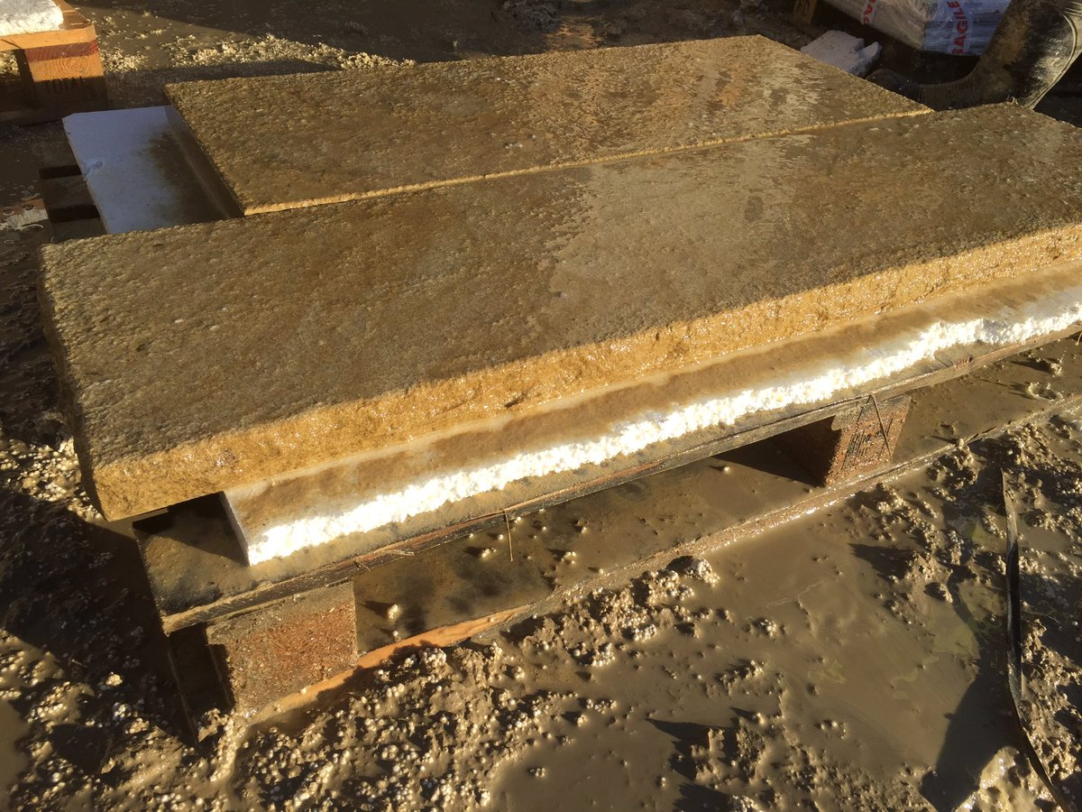 Yorkshire Gritstone hearth set aged