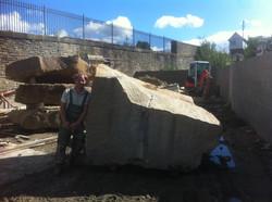 6ft High block weighing in at 10 ton