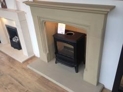Yorkstone fireplace