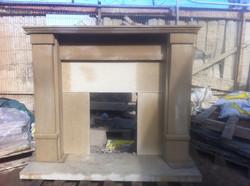 Hand Carved Sandstone Fireplace