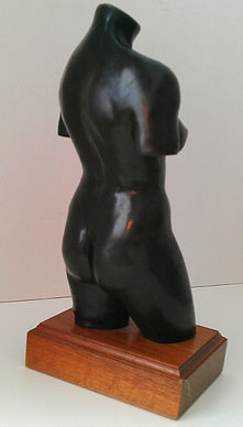Nan Phillips realistic figurative torso sculpture