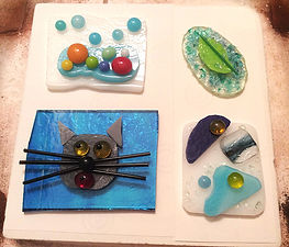 Nan Phillips fused glass art party for kids