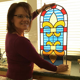 stained glass class, fused glass class, art party