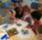 art glass da vinci preschool