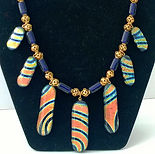 Nan Phillips Dichroic Fused Glass Necklace