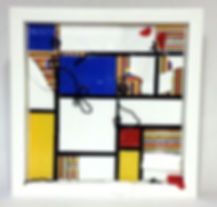 tack fused glass sculpture for wall mondrian glass stringer fused glass class stained glass class