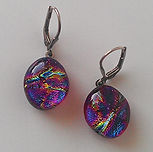 Nan Phillips Dichroic Fused Glass Earrings