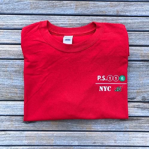 116 Red T-Shirt Adult/Men/Unisex