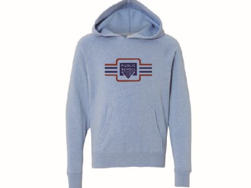 Lindley Vintage Youth Pull Over Hoodie Pacific Blue - KIDS