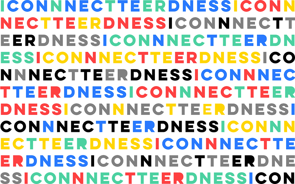 "Typographical composition. Words ""Inter"" & ""Connectedness"" mixed together. Original digital artwork."