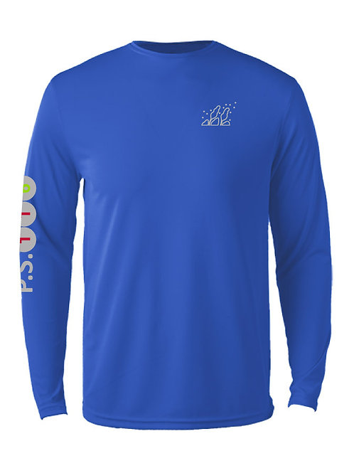 MENS TRAINING T  BLUE with UPF 30