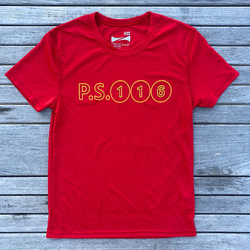 YOUTH TRAINING T with UPF 30 S/L RED