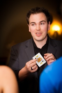 Wedding magician Ian Brennan