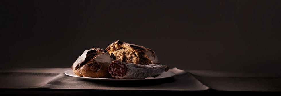 Still-life photography Dark Rye Bread